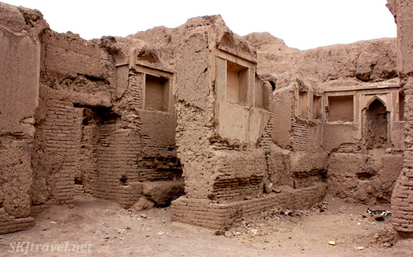 Ruins of the mud-walled city of Rayen, Iran.