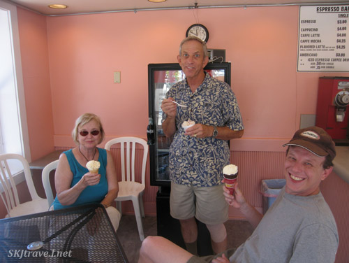 Ice cream at Lapperts! yum. Lahaina, Maui, Hawaii.