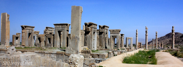 Ruined ancient Persian city of Persepolis. Iran.