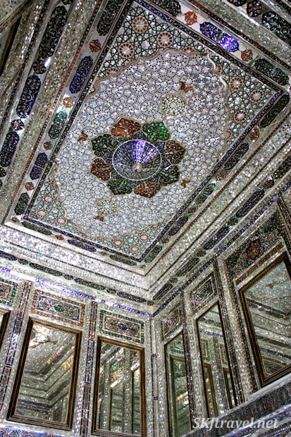 Ceiling of porch, Narenjestan (Orange Garden), Shiraz, Iran