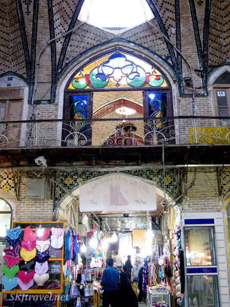 Inside the bazaar in Tehran, Iran.