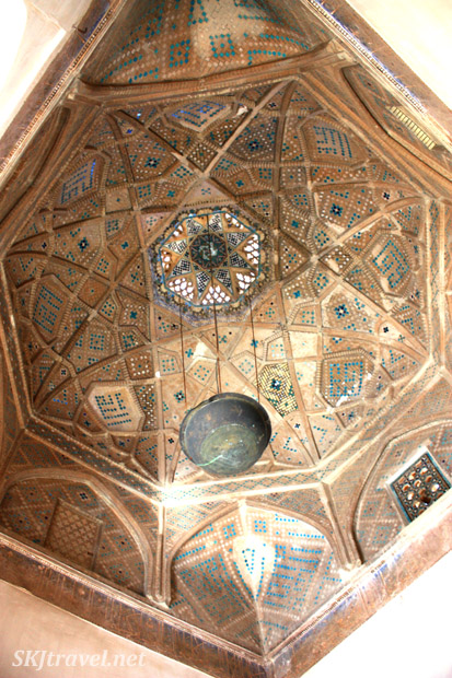Ceiling in mosque, Yazd, Iran.