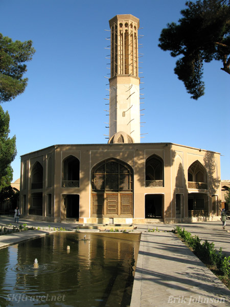 Dowlatabad wind tower, or wind catcher, in Yazd. Largest in Iran.
