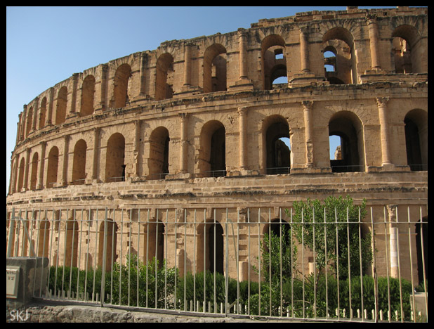 exterior of ancient roman coliseum