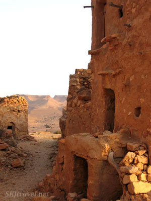 """Street"" or walkway in the abandoned ksar village of Guermessa. Tunisia."