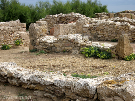 Ruins of the ancient Punic city of Kerkouane, Tunisia.