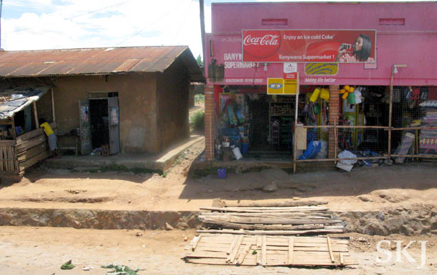Convenience store along the road, Uganda.