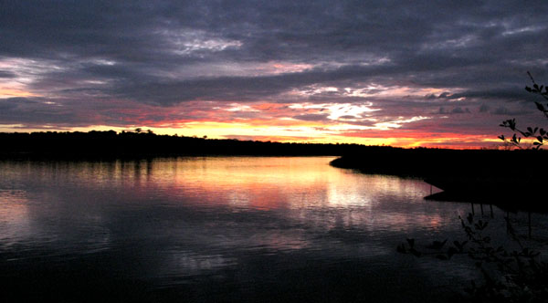 Nile River at sunrise, Murchison Falls NP Uganda