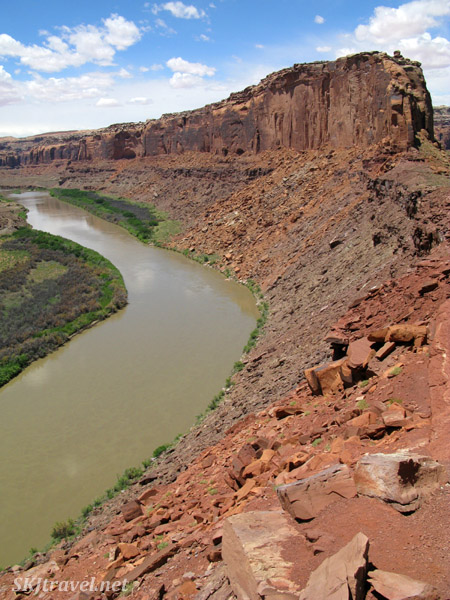 One side of a giant oxbow curve in the Green River, Utah.