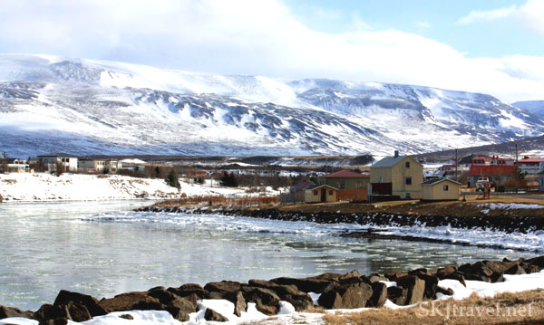 Small village on an ocean inlet, Iceland. Photo by Shara Johnson